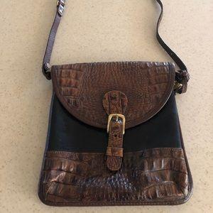 Brahmin vintage snakeskin crossbody bag